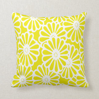 Golden Yellow Asian Moods Floral Cushion