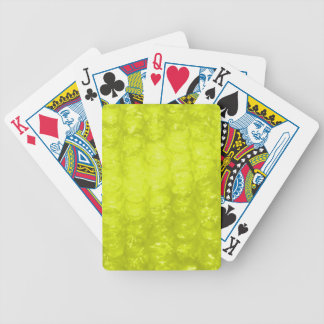 Golden Yellow Bubble Wrap Effect Bicycle Playing Cards