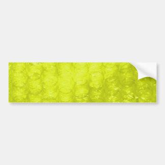 Golden Yellow Bubble Wrap Effect Bumper Sticker