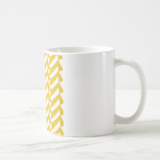 Golden Yellow Checks Coffee Mug