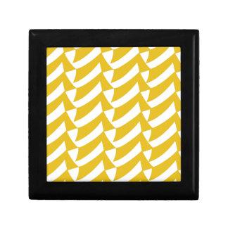 Golden Yellow Checks Gift Box