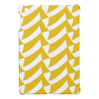 Golden Yellow Checks iPad Mini Cover