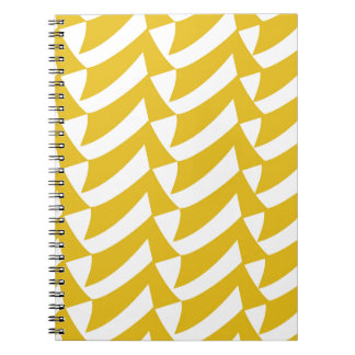 Golden Yellow Checks Notebook