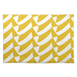 Golden Yellow Checks Placemat