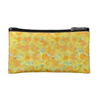 Golden Yellow Daffodils Cosmetics Bag