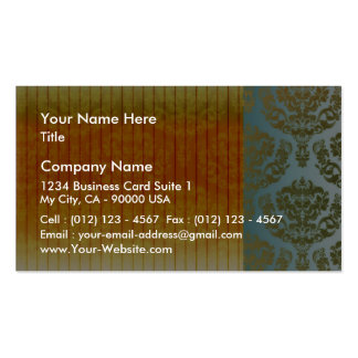 Golden yellow damask valentine gift pack of standard business cards
