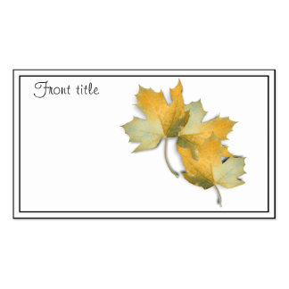 Golden Yellow  Fall Leaves Pack Of Standard Business Cards