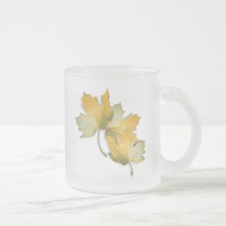 Golden Yellow  Fall Leaves Coffee Mugs