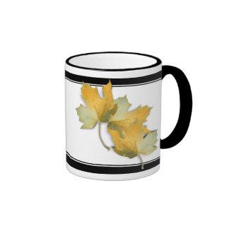 Golden Yellow  Fall Leaves Coffee Mug