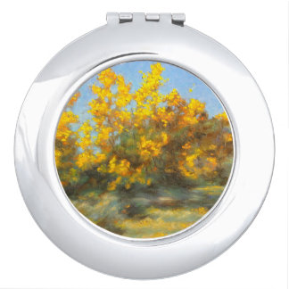 Golden Yellow Fall Trees Compact Mirror