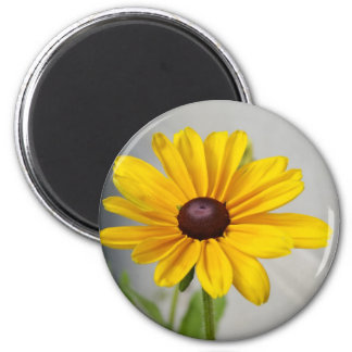 Golden Yellow Flower 6 Cm Round Magnet