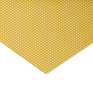 Golden Yellow Geometric Pattern - Cute Diamonds Tissue Paper