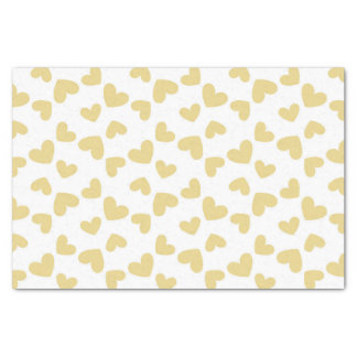 Golden Yellow Hearts Tissue Paper