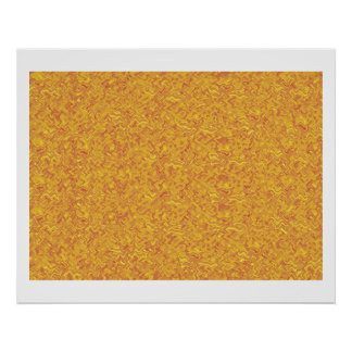 Golden Yellow High Energy Color Theraphy Jewel Poster