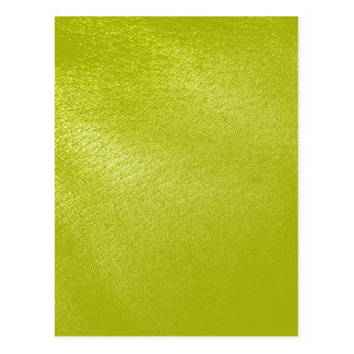 Golden Yellow Leather Look Postcard