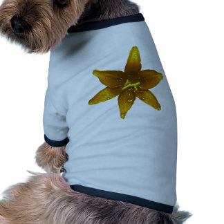 Golden Yellow Lily Dog T-shirt