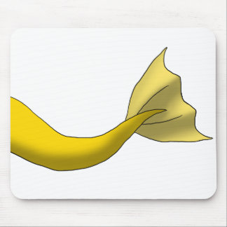 Golden Yellow Mermaid Tail Mouse Pad