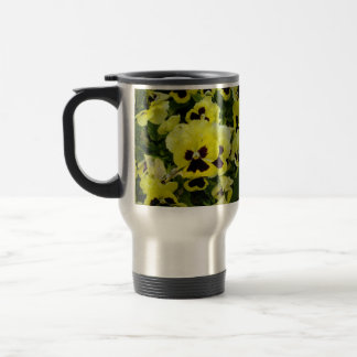 Golden_Yellow_Pansies,_Travel_Commuter_Coffee_Mug. Travel Mug