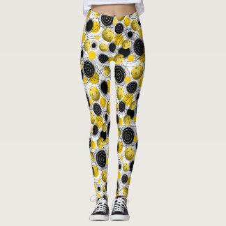 Golden Yellow Pickleballs - Leggings