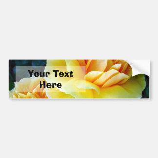 Golden Yellow Roses Custom Bumper Stickers