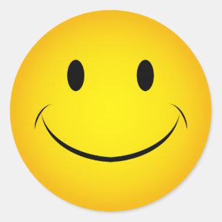 Golden Yellow Smiley Face Sticker