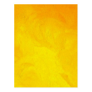 Golden Yellow - The World With Minimal Design Post Cards