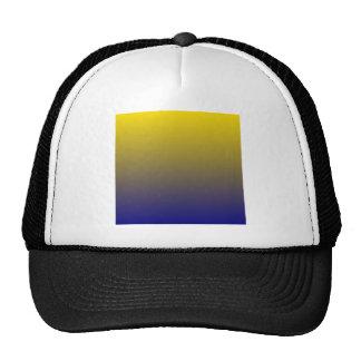 Golden Yellow to Navy Blue Horizontal Gradient Trucker Hats