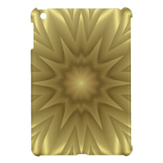 Golden Yellow Wave Pattern, iPad Mini Hard Case Cover For The iPad Mini