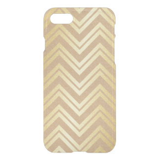 Golden Zig Zag Lines iPhone Clearly™ iPhone 7 Case