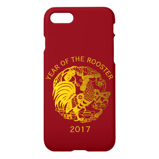 Golden Zodiac 2017 Rooster Year Iphone Case