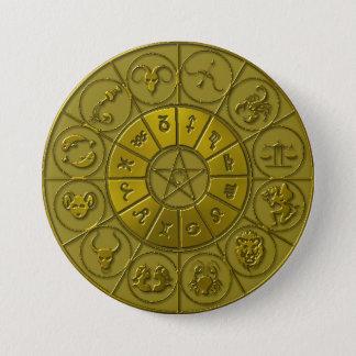 Golden Zodiacal Button