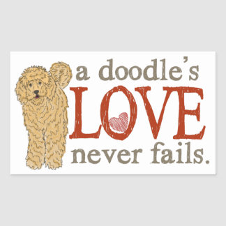 Goldendoodle and Labradoodle Love Rectangular Sticker