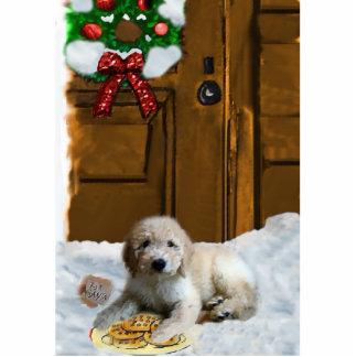 Goldendoodle Christmas Ornament Photo Sculpture