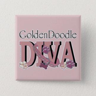 GoldenDoodle DIVA 15 Cm Square Badge