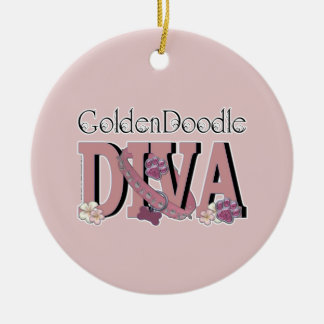 GoldenDoodle DIVA Christmas Ornament
