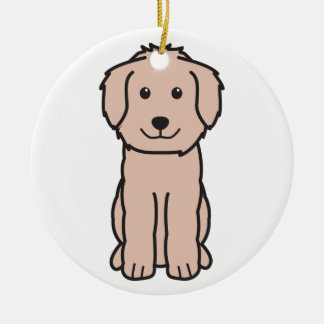 Goldendoodle Dog Cartoon Christmas Ornament