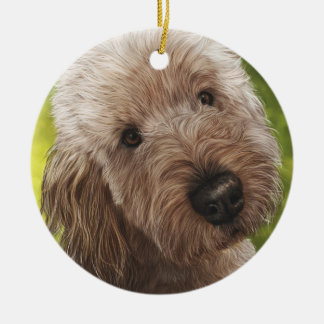 Goldendoodle Painting Christmas Ornament