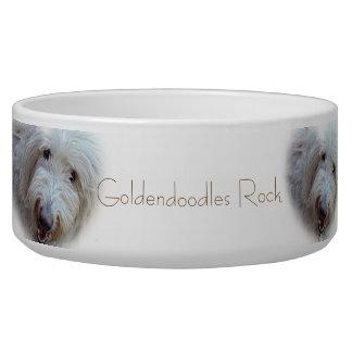 Goldendoodles Rock adorable dog food bowl