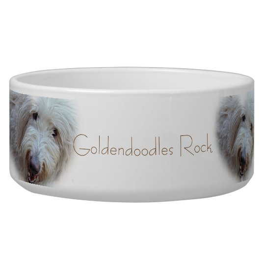 Goldendoodles Rock adorable dog food bowl