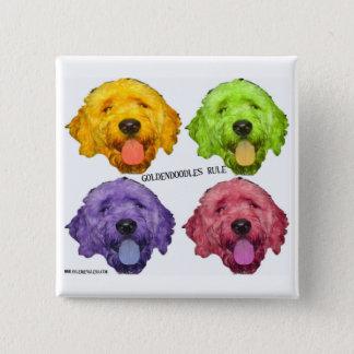 Goldendoodles Rule Square Button