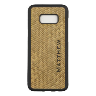 : GoldenFaux Basket Weave Pattern Carved Samsung Galaxy S8+ Case