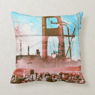 GoldengateBridge SanFrancisco Iconic Panel of Life Cushion