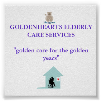 Goldenhearts poster for display in office or home