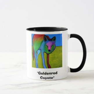 """Goldenrod Coyote"" mug"