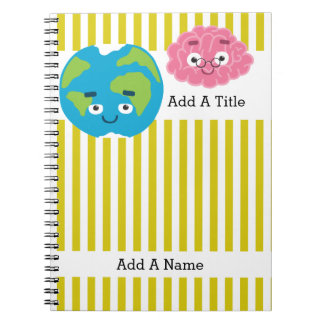 Goldenrod Yellow-White Stripe•School•Custom Notebooks