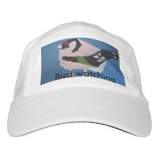Goldfinch abstract fun bird watching hat