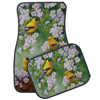 Goldfinch and Blossoms Car Mat