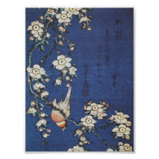 Goldfinch and Cherry Tree, c.1834  by Katsushika H Poster