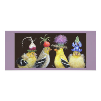 goldfinch family flat card