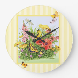 Goldfinch Garden Wall Clock